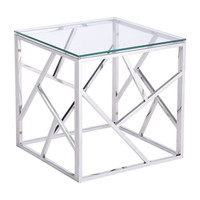 Cage Side Table Stainles Steel Polished Stainless Steel