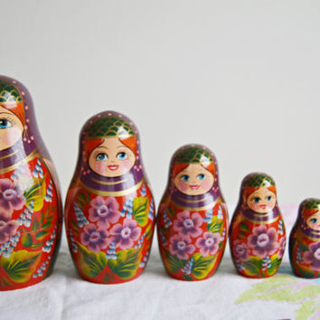 Springtime Maidens Russian Nesting Doll