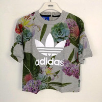 adidas Originals Women Farm Big Floral Print T-Shirt