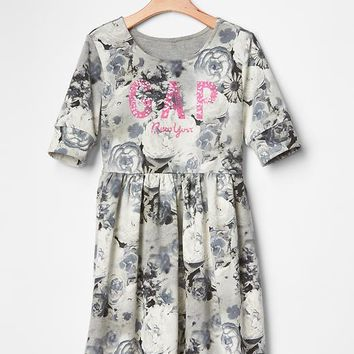 Gap Girls Logo Printed Babydoll Dress