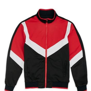 Motocross Track Jacket - Black/Red