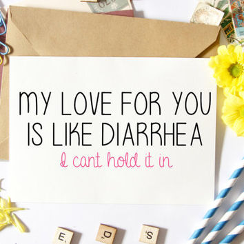 Funny Valentine Card, Funny Love Card, Boyfriend Card, Valentine Boyfriend, Gift Ideas, For Him
