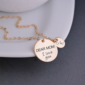 Dear Mom: I Love You Necklace