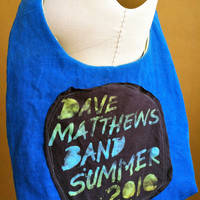 Dave Matthews Band Bag Upcycled Concert by TheCollectiveChaos