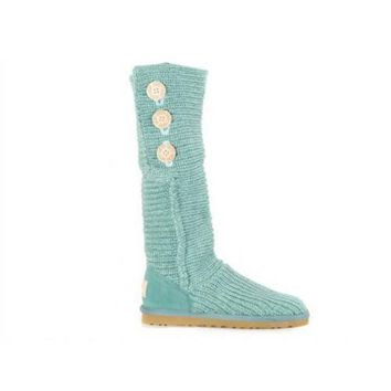 Ugg Boots Cyber Monday Knit Classic Cardy 5819 Green For Women 81 14