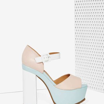 Nasty Gal Sorbet Leather Platform