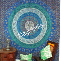 Indian Mandala Wall Hanging, Queen Ethnic Wall Tapestries, Boho Bohemian Mandala Tapestry Throw Bedcover Sheet, Hippie Wall Hanging