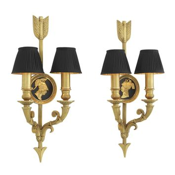 Gold Wall Lamp (Set of 2) | Eichholtz Tiberius