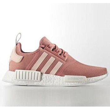 ADIDAS NMD Fashion Casual  Women Men Running Sport Casual Shoes Sneakers Pink G