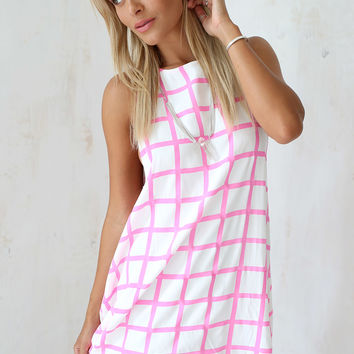 Pomegranate Grid Dress | SABO SKIRT