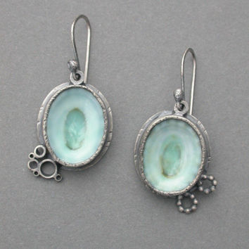 limpet shell earrings by jaimejofisher on Etsy