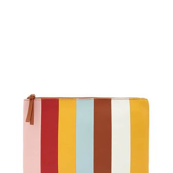 Striped Clutch Bag