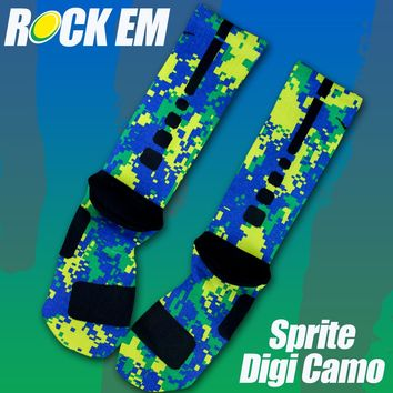 Sprite Custom Nike Elite Socks | Rock 'Em Apparel