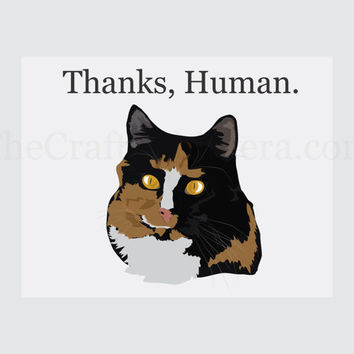Thank You Printable Cat  Card