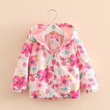 Spring Children's Hooded Jackets Coat For Boy Girls, Autumn Kids Long Sleeve Outwear Clothes, Baby Boy Girls Kids Top Clothes