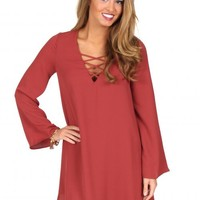 Trust In Me Rust Shift Dress | Monday Dress Boutique