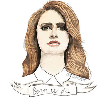 Lana Del Rey ''Born to die'' watercolour portrait by ohgoshCindy