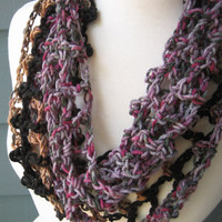 Summer Lace Infinity / Soft Cozy / Handmade by ArtsyCrochet / Free Shipping