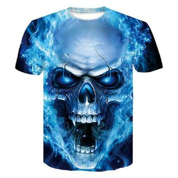 LMFLD1 2018 new skull 3D T Shirt Men Fitness Compression Shirts Tops Male Print Superhero Superman punisher Crossfit Anime T-Shirts