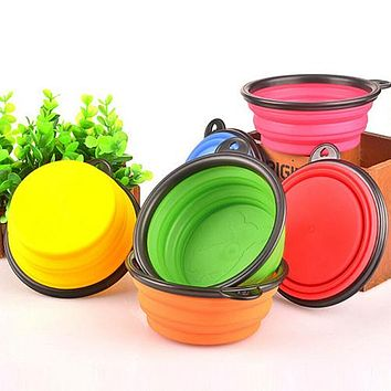 Silicone Travel Dog Bowl Collapsible Premium Quality Food Water Pet Travel Bowl