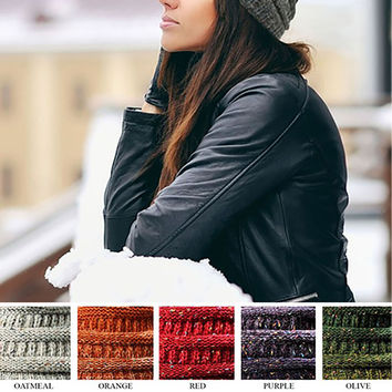 C.C Unisex Trendy Two Tone Ombre Knit Stretchy Beanie YJ-817