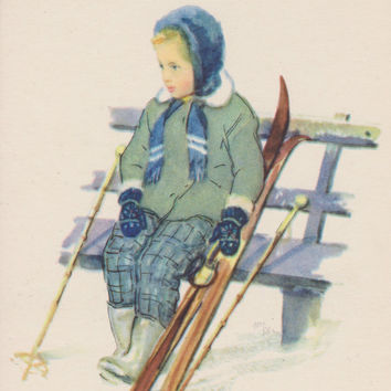 "N. Zhukov ""Finnish girl"" Postcard -- 1958"