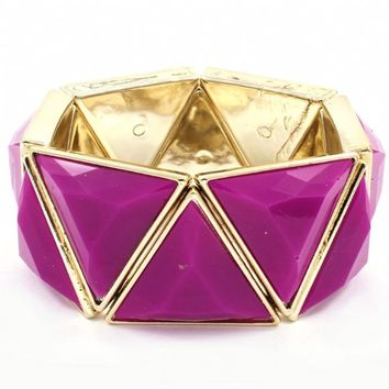 Fiona's Chunky Purple Triangle Shape Bracelet