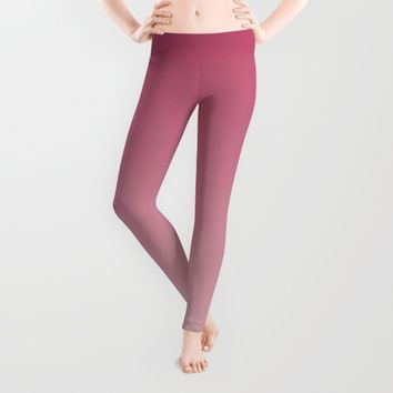Soft Rose Ombre (Reverse) Leggings by Lindsay