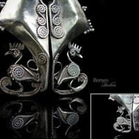 Sumba Mamuli Tribal Jewelry From Indonesia Collectible Earring/Pendant/Frontal Dangling Ethnic Asian Culture