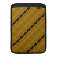 Modern Abstract Stripe in Black, Gold, and Olive Sleeves For MacBook Air