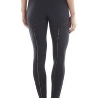 Michi Activewear Revue Lattice | Black Designer Leggings