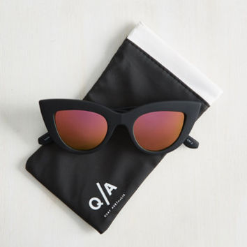 Kitti Sunglasses in Pink Lenses | Mod Retro Vintage Sunglasses | ModCloth.com