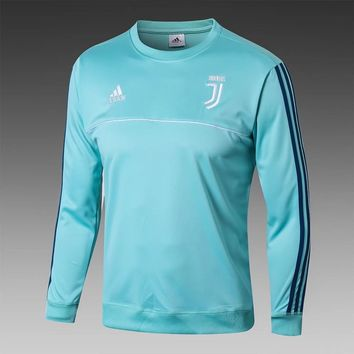 KUYOU Juventus 2017/18 Green Long Sleeve Training Top 2