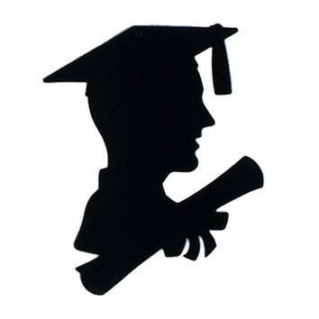 """Beistle Party Decoration Accessory Boy Graduate Silhouette 8"""""""" x 12"""""""" Pack of 36"""