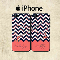 Best Friends iPhone Case - Personalized iPhone 5 Case - iPhone 4 Case - Infinity Anchor iPhone Case - TWO CASE SET