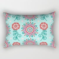 Floral Frost Rectangular Pillow by Sarah Oelerich