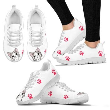 Women's Sneakers - Cat paws