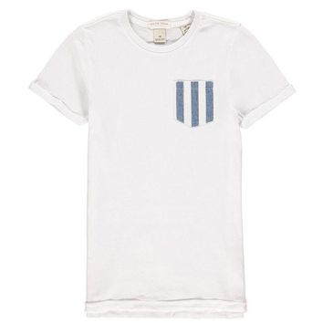 LMFMS9 Scotch & Soda Boys White T-shirt With Pocket