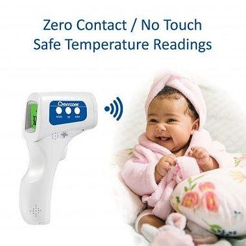 No Touch Temporal - Forehead Baby and Adult IR Thermometer for Fever