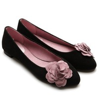 Ollio Women's Ballet Flats Loafers Cute Flower Accent Multi-Color Shoes