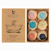 Bath Bomb Gift Set - 6 Pack of Large Bath Fizzies with Organic & Natural Ingredients - Lush, Luxurious and Fizzy Healing Soak Bombs with Essential Oils, Shea Butter and Epsom Salts - Moisturizing & Perfect Gift Idea - USA Made