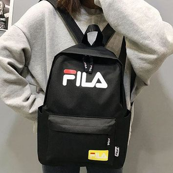 FILA 2019 new street fashion men and women models color versatile canvas casual backpack #1