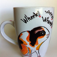 Guinea pigs - 12 ounce handpainted mug