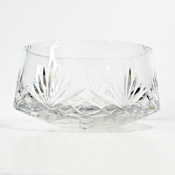 Vintage Signed Rogaska 24% Lead Crystal Bowl in Richmond Pattern - (#100.8)
