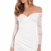 Leading Lady dress in white lace | SHOWPO Fashion Online Shopping