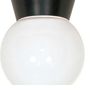 """Nuvo 77-157 - 8"""" Utility Light, Outdoor Ceiling Light with White Glass Globe"""