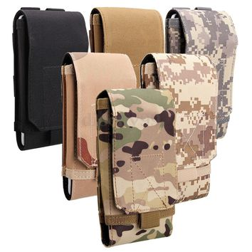 Universal Army Camo Bag For Mobile Phone Belt Loop Hook Case Cover Pouch Holster
