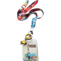 Adventure Time Character Collage Lanyard