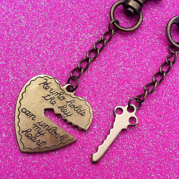 Key To My Heart Couples Keychain Set
