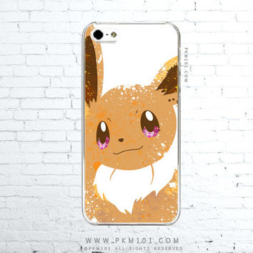 Pokemon X Y EEVEE Inspired - Cafe Latte - Paint Splatter iPhone 4 4s 5 5s 5c iPod Touch 5 Galaxy S3 S4 S5 Note 3 Case